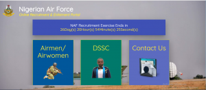nafrecruitment.airforce.mil.ng portal